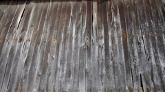 Wooden wall of the old house. Stock Footage
