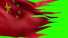 Flag of China loop alpha Stock Footage