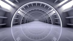 Abstract Modern Background, empty futuristic interior - stock illustration