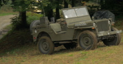 American jeep military camp mountain 02 Stock Footage