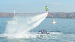 Flyboard water activities Stock Footage