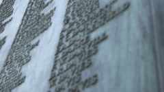 War memorial plaque low angle Stock Footage