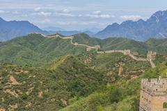 chinese great wall jinshangling - stock photo