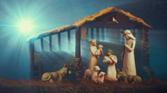 Christmas nativity animated looping background Stock Footage