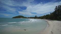 Deserted wild beach Stock Footage
