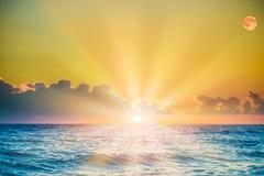 Soltse rise of the sea in the morning Stock Photos