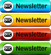 newsletter icon - stock illustration