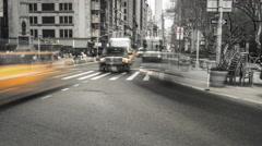 Flatiron District. Timelapse. New York, NY. Black & white. Stock Footage