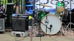 Drum set outdoor Stock Footage
