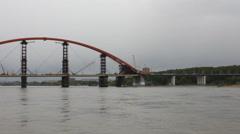 Bridge over river 10329 Stock Footage