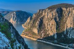 The danube gorges Stock Photos