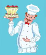 Confectioner. Stock Illustration
