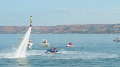 Flyboard show Stock Footage