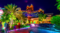 4K TimeLapse - Dubai Atlantis Hotel Stock Footage