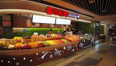 Inside of supermarket in Shanghai in China - stock footage