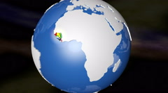 4K Ebola Countries Earth Zoom In with Matte 1 Stock Footage