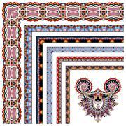 Floral vintage frame design. Vector set Stock Illustration