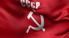 Flag of the Communist Party Stock Footage