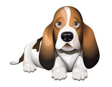Stock Illustration of basset hound puppy
