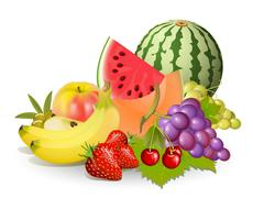 Groups of fruits Stock Illustration