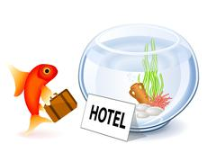 Goldfish hotel Stock Illustration