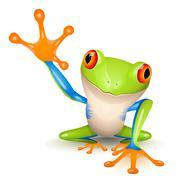 little tree frog - stock illustration