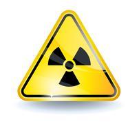 radiation sign - stock illustration