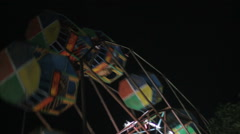 Ferris Wheel at Diwali Mela, Delhi, India Stock Footage