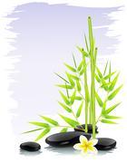zen composition - stock illustration