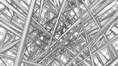 Wireframe Tunnel 01 1080p Stock Footage