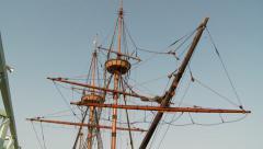 Crow's Nest on Mayflower Replica Stock Footage