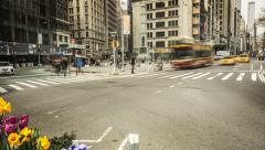 Flatiron District. Timelapse. New York, NY.  Stock Footage