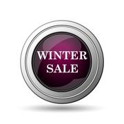 Stock Illustration of winter sale icon. internet button on white background..