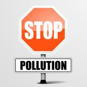 Roadsign stop pollution Stock Illustration