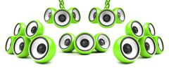 Green modern high-power audio system Stock Illustration