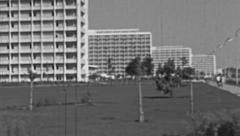 Mamaia 1960s: resort on the waterfront Stock Footage