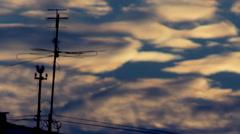 Antenna sunset blue Stock Footage