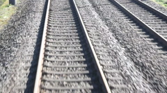 train tracks while the train moves - stock footage
