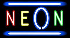 Neon Sign Stock Illustration