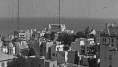Constanta 1960s: panorama of the city Stock Footage