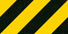 warning black and yellow hazard stripes texture - stock illustration