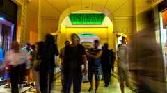 Stock Video Footage of 4K TimeLapse - people walk Jumeirah Atlantis