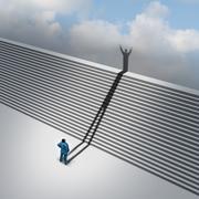 climbing stairs - stock illustration