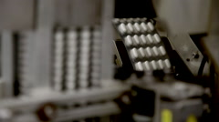 Manufacturing Pills, Pharmaceutical Industry - stock footage