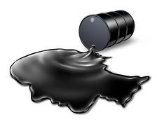 oil spill health risk - stock illustration