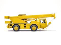 Truck mounted crane Stock Illustration
