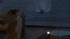 Italian Coast Guard boat follow cruise ship after emergency 4K 024 Stock Footage