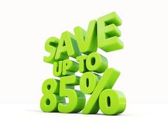 save up to 85% - stock illustration