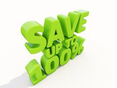save up to 100% - stock illustration