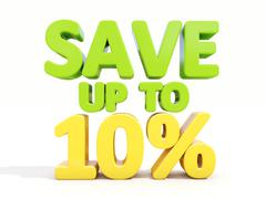 save up to 10% - stock illustration